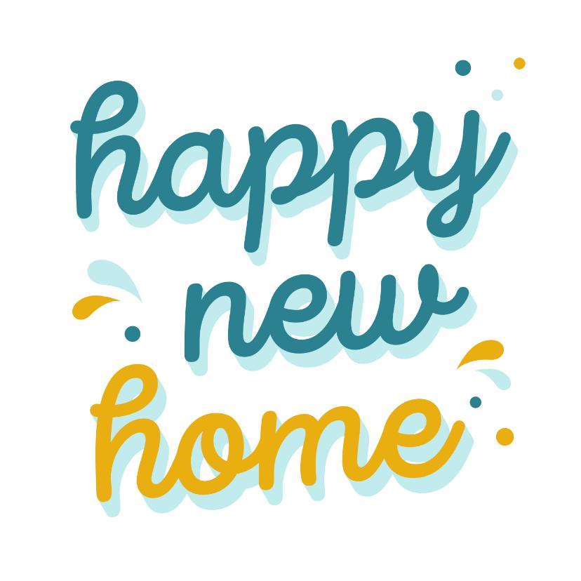 Felicitatiekaarten - Kleurrijke felicitatiekaart new home