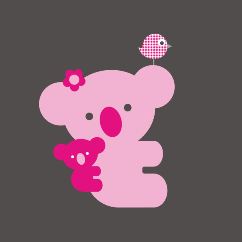 Felicitatiekaarten - Koala roze