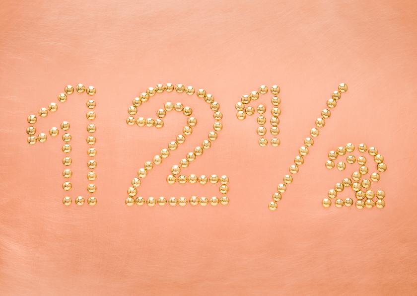 Felicitatiekaarten - Koperen bruiloft - 12 5 jaar