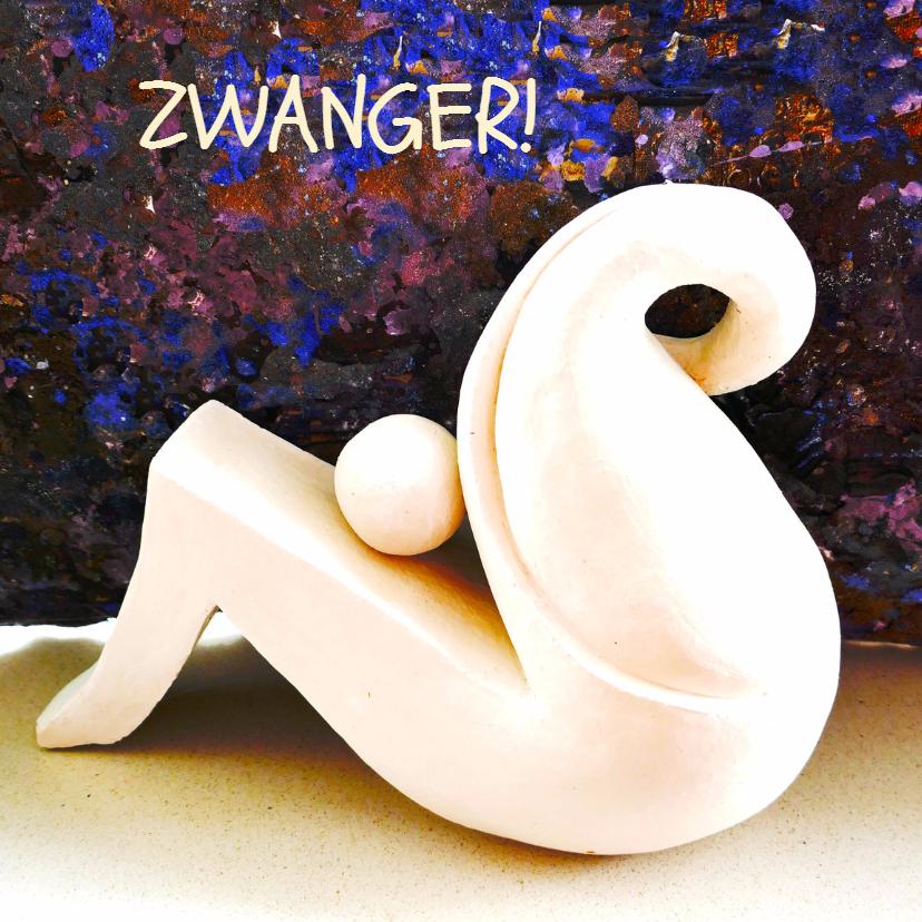 Felicitatiekaarten - Kunstkaart zwanger - AW