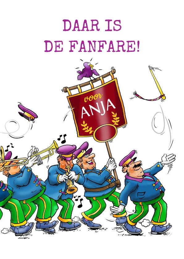 Felicitatiekaarten - Leuke felicitatiekaart met de fanfare voor de jarige!