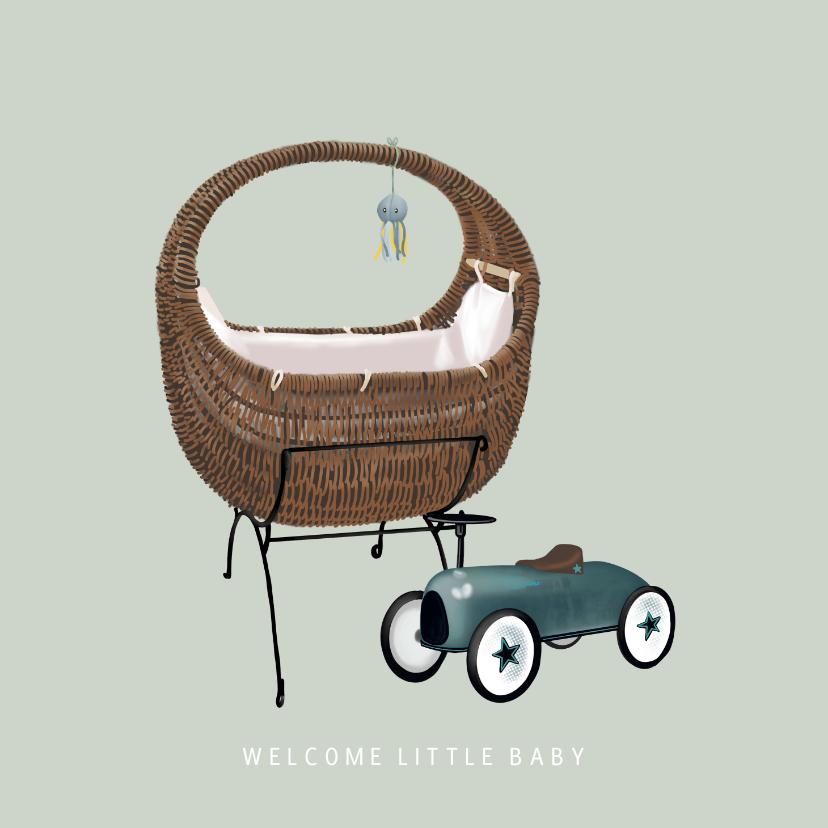 Felicitatiekaarten - Lief felicitatiekaartje voor de geboorte van een baby