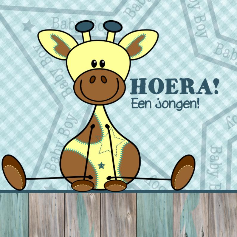 Felicitatiekaarten - Lief jongetje geboren Giraffe