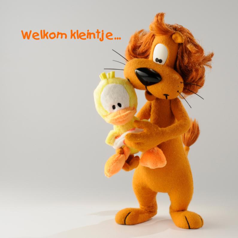 Felicitatiekaarten - Loeki de Leeuw welkom Guusje