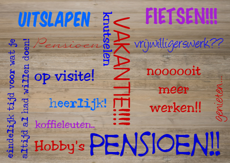Felicitatiekaarten - made4you-pensioen