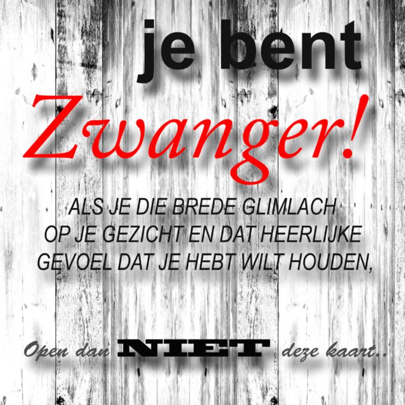 Felicitatiekaarten - made4you-zwanger-tekst