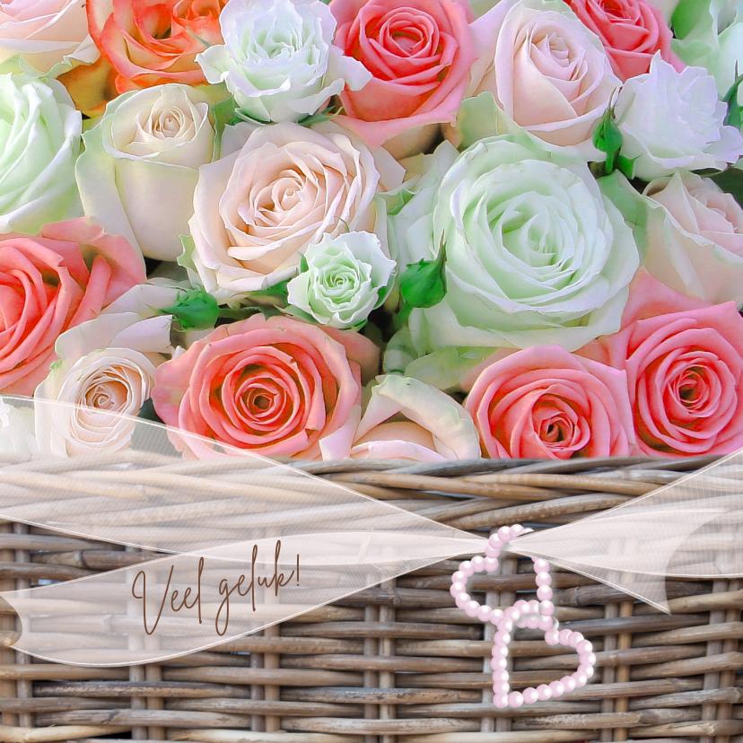 Felicitatiekaarten - Mand met oranje rozen