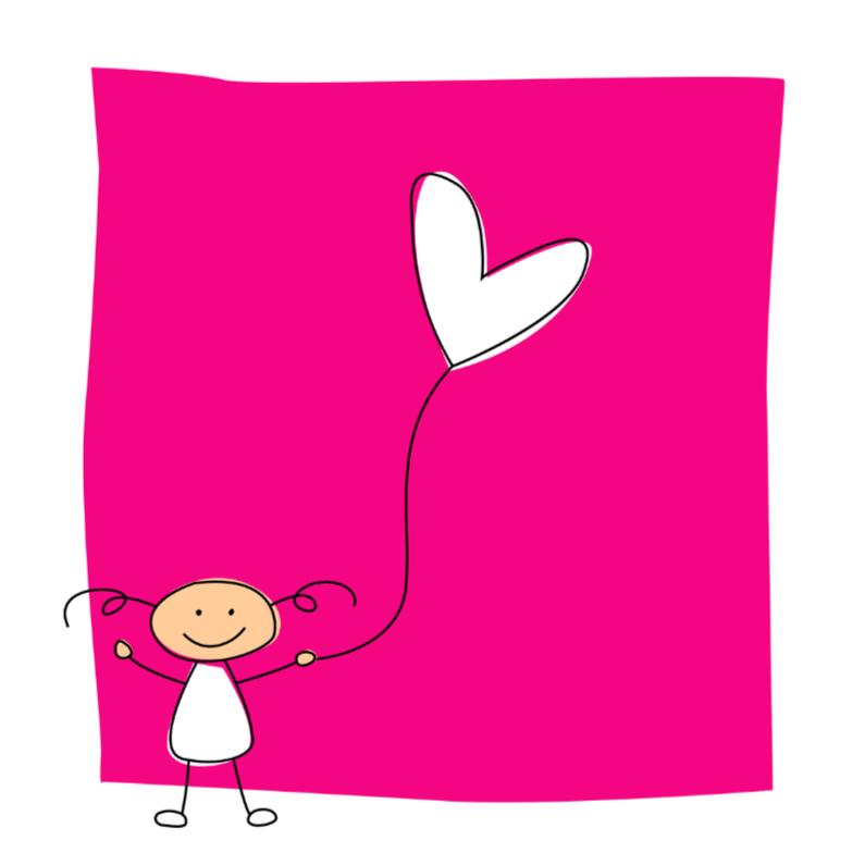 Felicitatiekaarten - Meisje met ballon