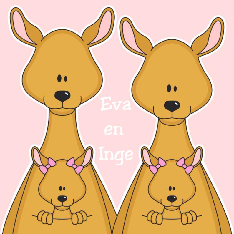 Felicitatiekaarten - Meisjes tweeling by Heppie Kids