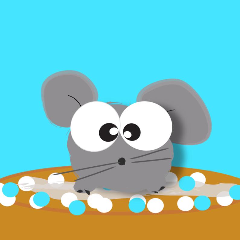 Felicitatiekaarten - Mo Cards beschuit met muis zoon