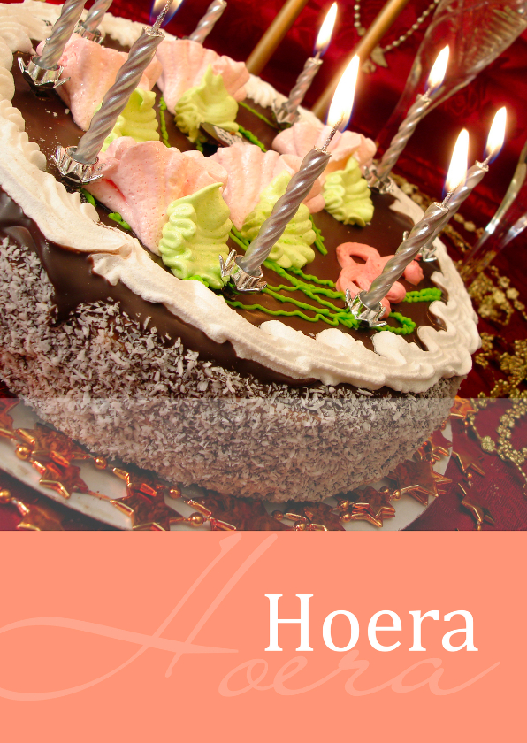 Felicitatiekaarten - Moments kaart Hoera