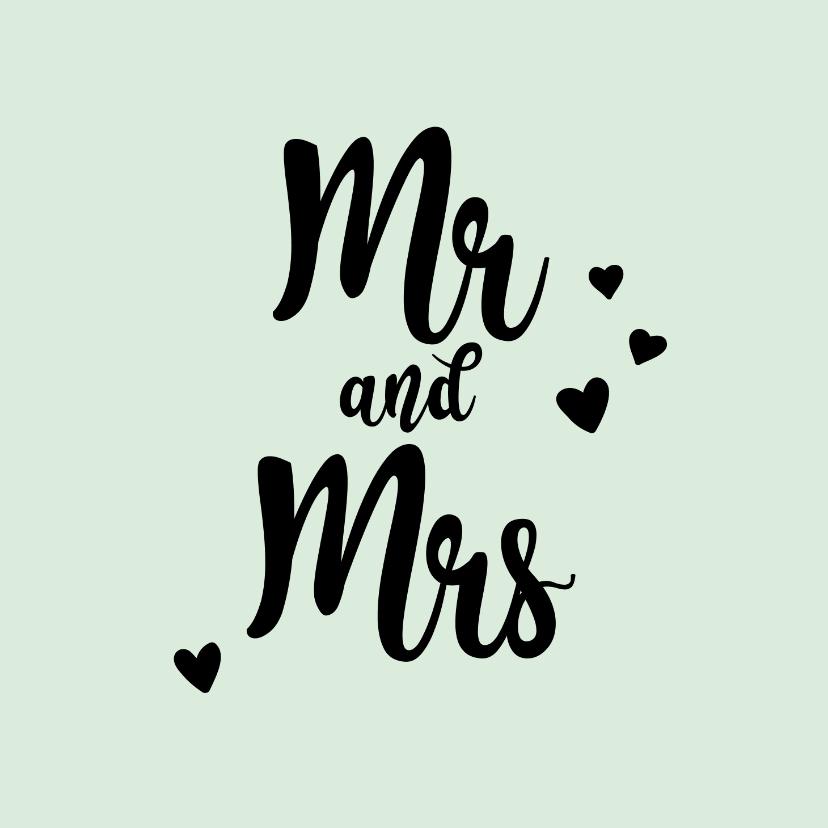 Felicitatiekaarten - Mr&Mrs - positive - felicitatiekaart