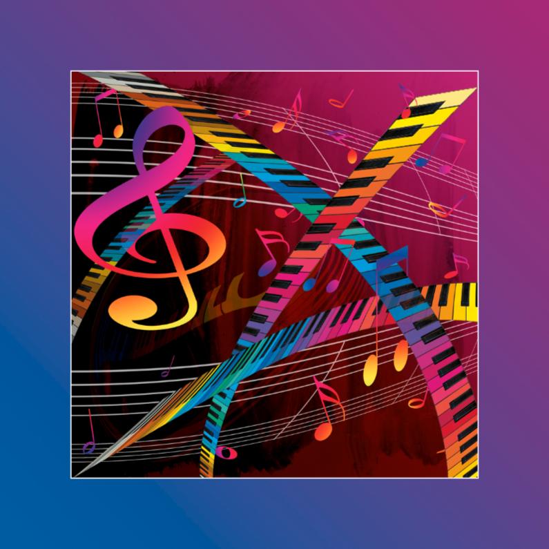 Felicitatiekaarten - muziek4