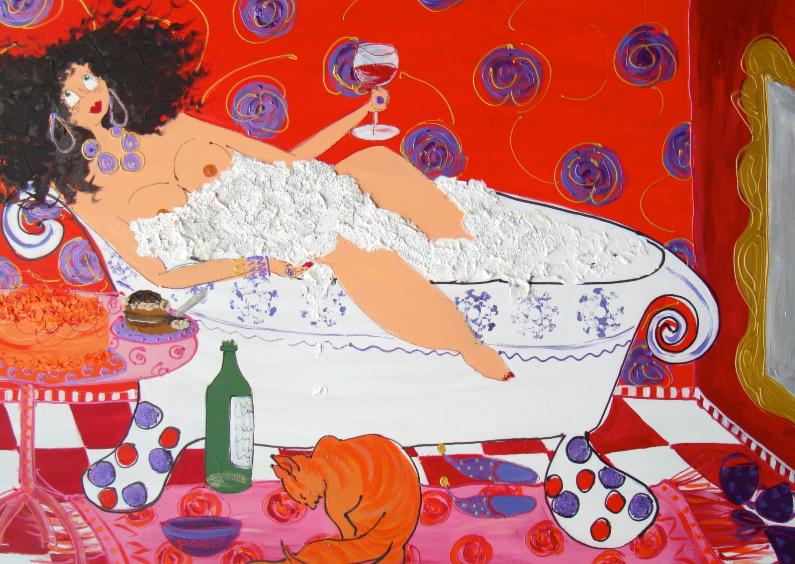 Felicitatiekaarten - My hot tub is cool