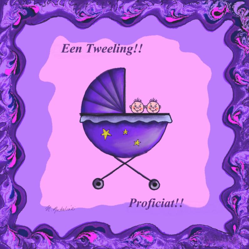 Felicitatiekaarten - Nathalie Antalvari GeboorteTweeling