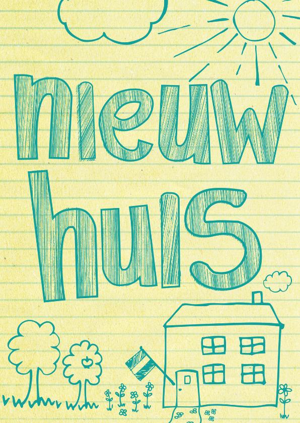 Nieuw huis nieuwe woning bf felicitatiekaarten kaartje2go - Nieuw huis ...