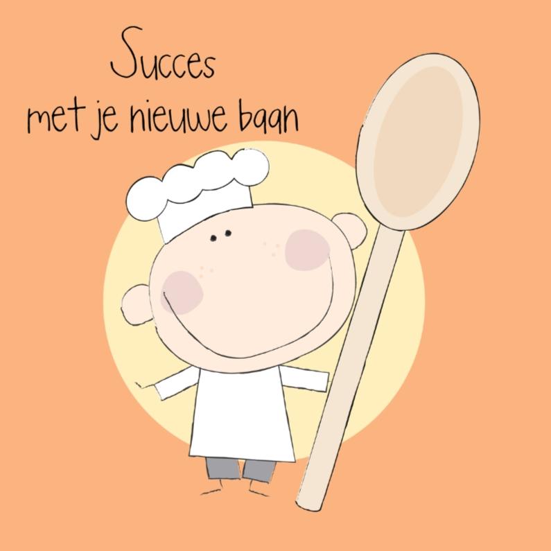 Felicitatiekaarten - Nieuwe baan kok