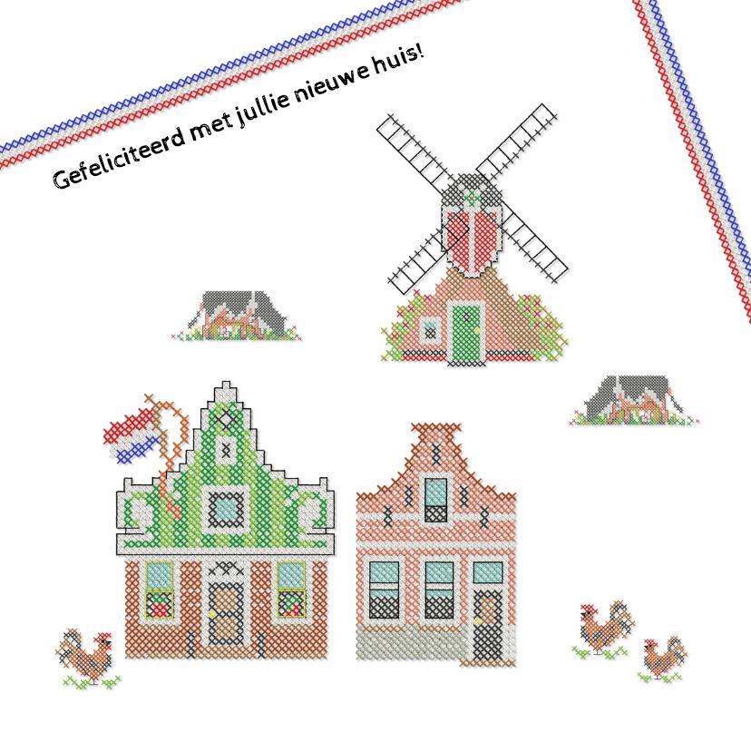 Felicitatiekaarten - Nieuwe woning in kruissteek