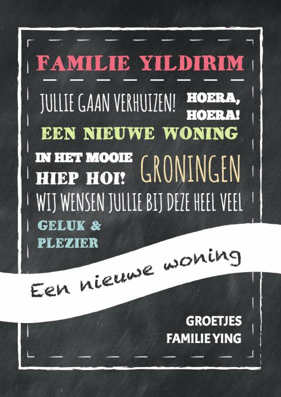 Felicitatiekaarten - Nieuwe woning krijt - DH