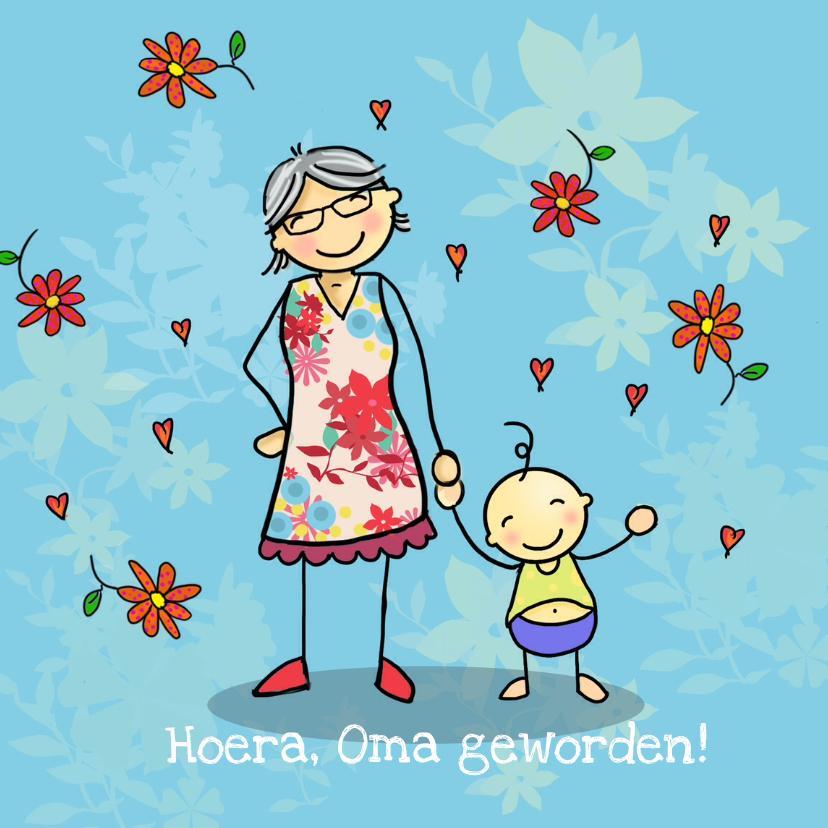 Felicitatiekaarten - Oma geworden