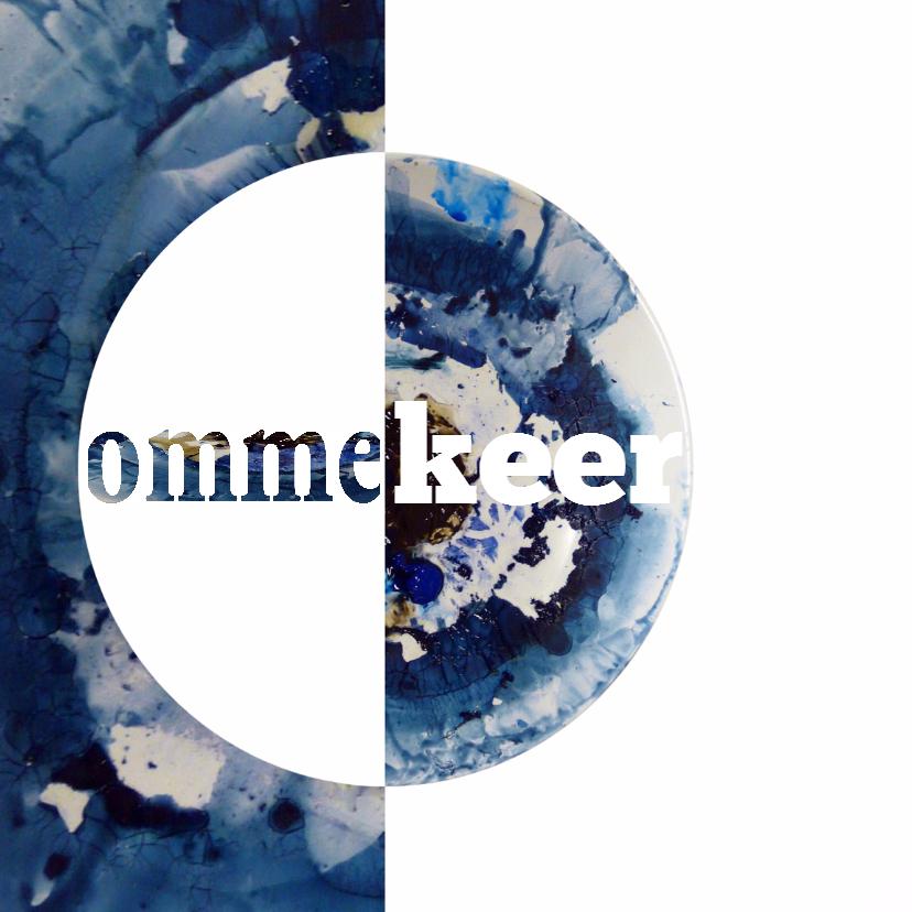 Felicitatiekaarten - Ommekeer Blauw wit - AW
