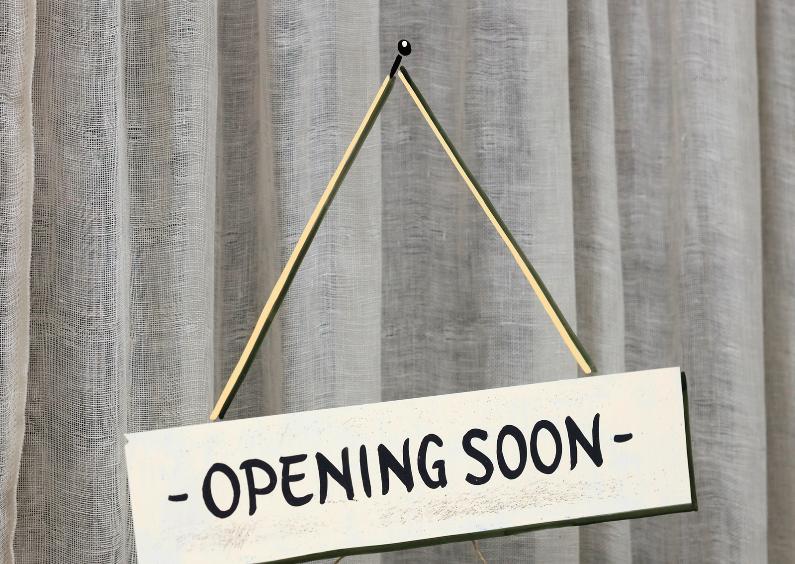 Felicitatiekaarten - Opening soon