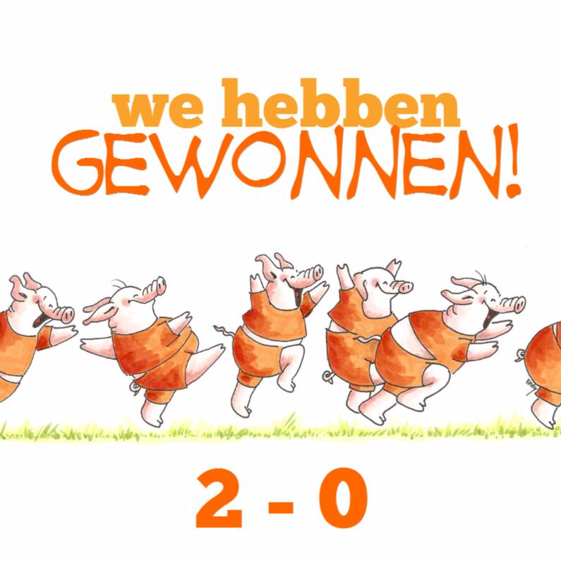Felicitatiekaarten - Oranje elftal