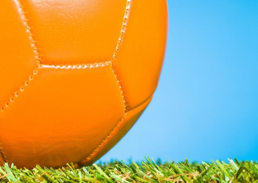 Felicitatiekaarten - Oranje voetbal voor de kampioen