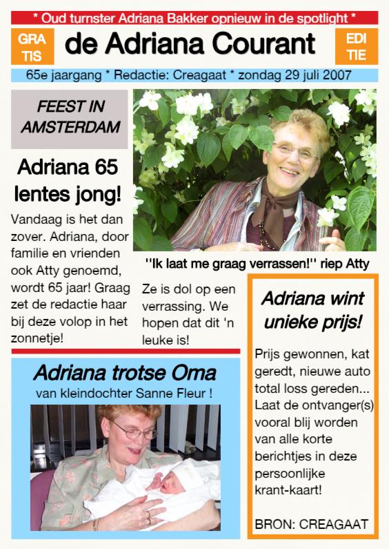 Felicitatiekaarten - Persoonlijke Krant