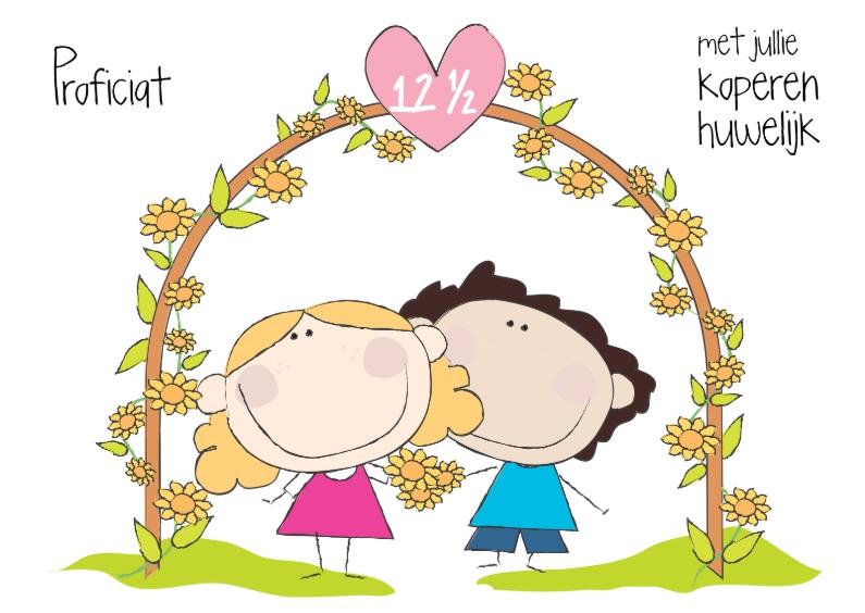 Felicitatiekaarten - Proficiat koperen huwelijk