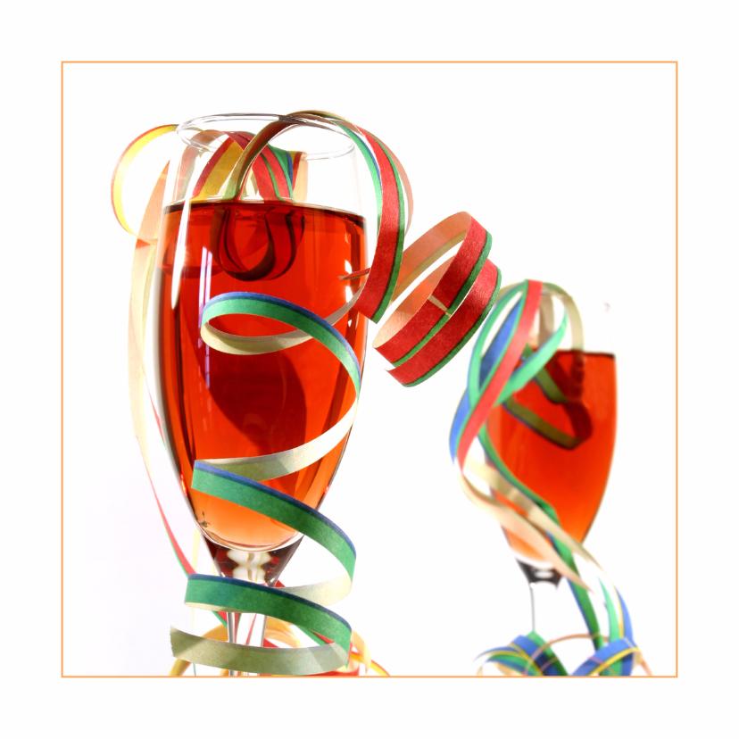 Felicitatiekaarten - Rose met feestelijke versiering