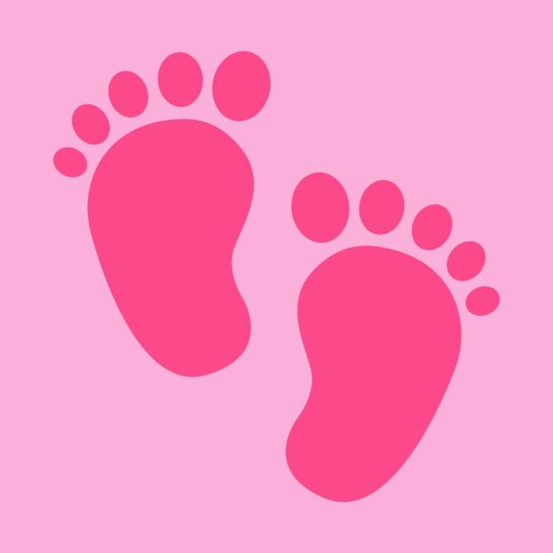 Felicitatiekaarten - Roze baby voetjes