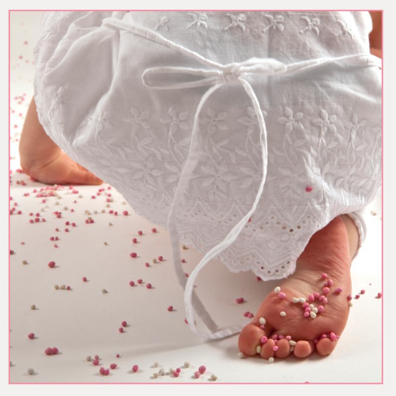 Felicitatiekaarten - roze muisjes op voetje