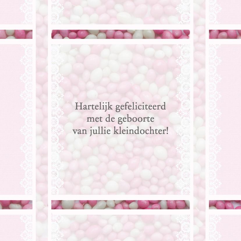 Felicitatiekaarten - Roze muisjes voor opa en oma