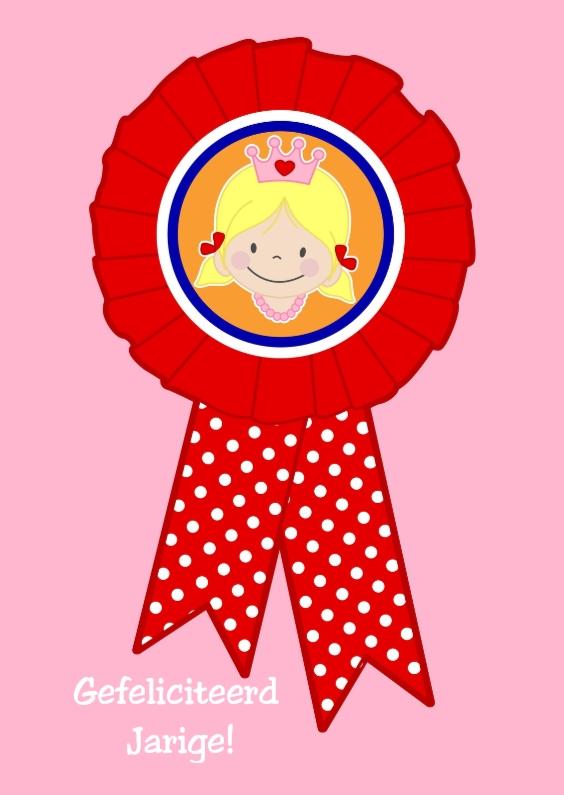 Felicitatiekaarten - Rozet verjaardagskaart