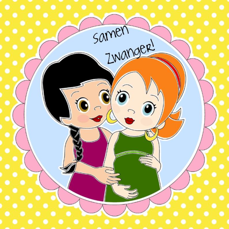 Felicitatiekaarten - Samen zwanger- EvG