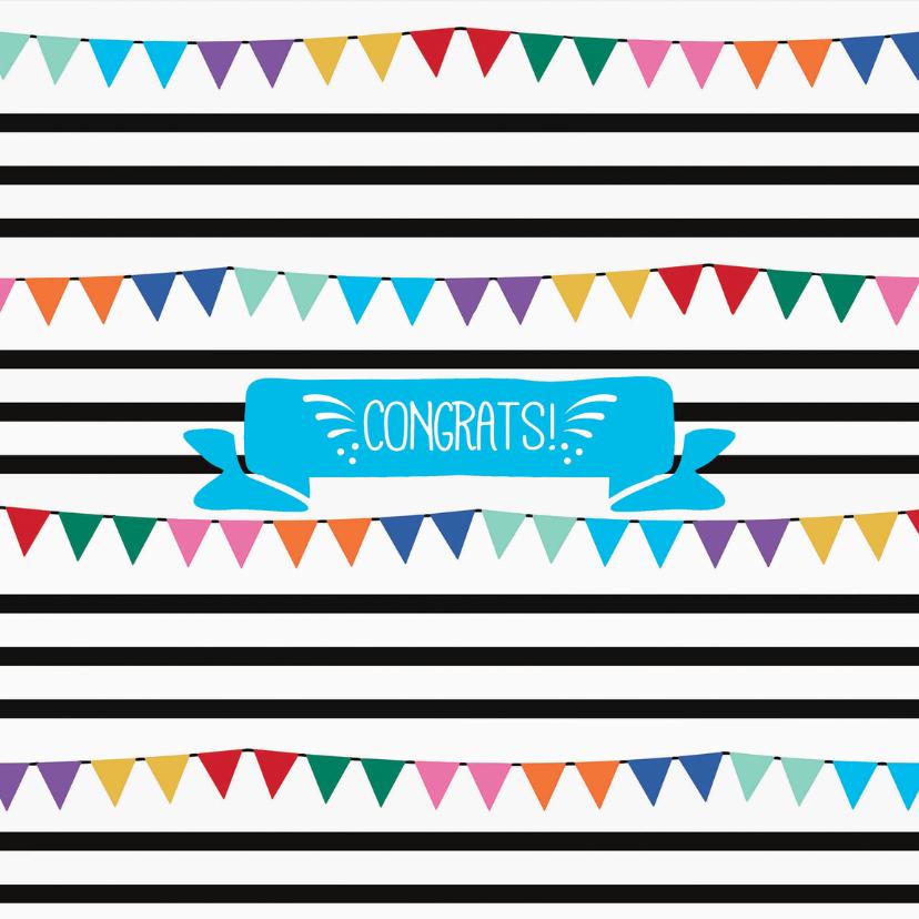 Felicitatiekaarten - Slingers en confetti, hoera!
