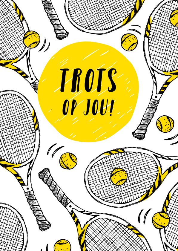 Felicitatiekaarten - Sportkaart tennis