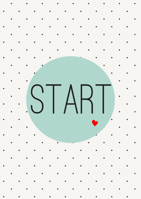 Felicitatiekaarten - Startknop