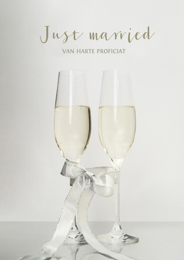 Felicitatiekaarten - Stijlvolle felicitatiekaart voor een bruiloft