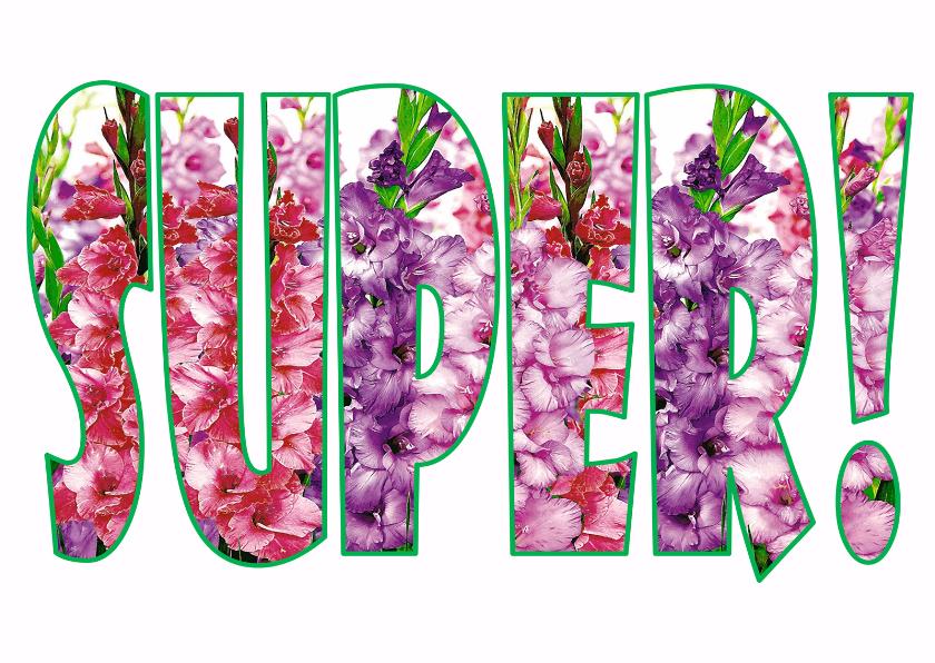 Felicitatiekaarten - Superletters Gladiool - AW