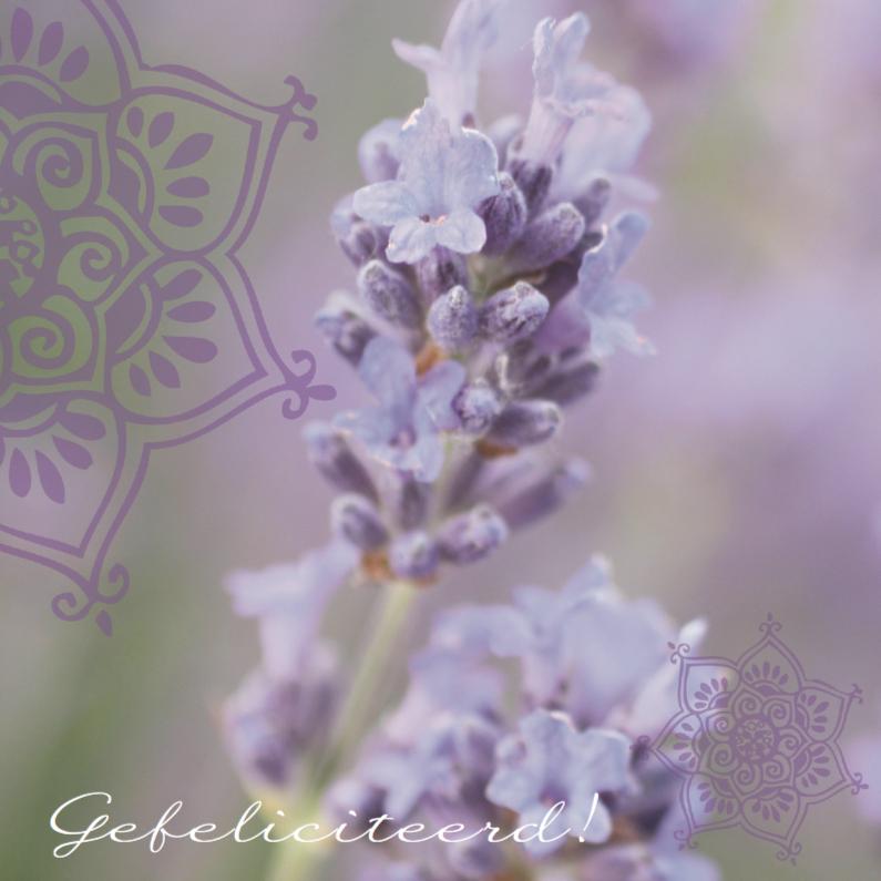 Felicitatiekaarten - Trouwkaart felicitatie lavendel