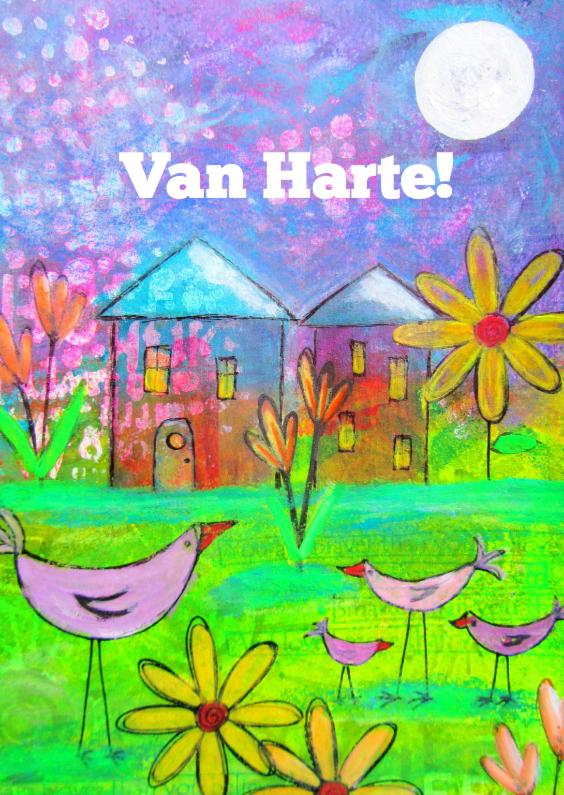 Felicitatiekaarten - Van Harte - Kippetjes