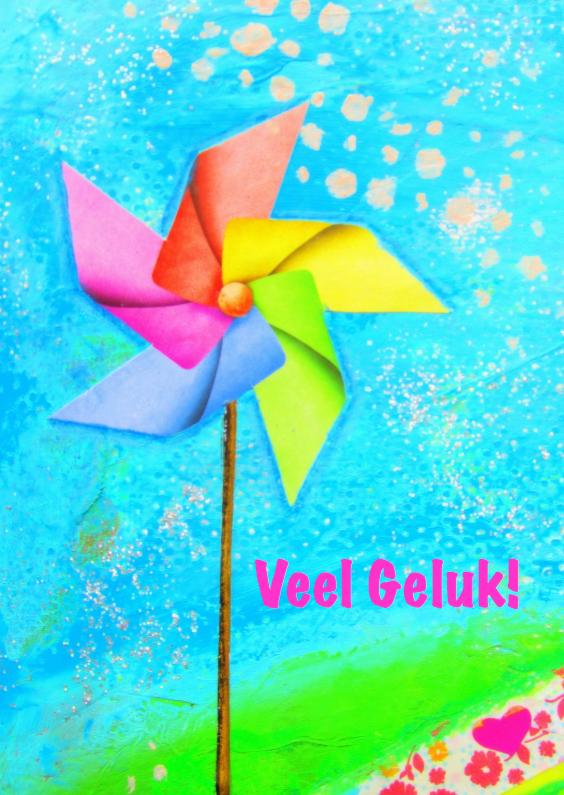 Felicitatiekaarten - Veel Geluk - Regenboogkleuren
