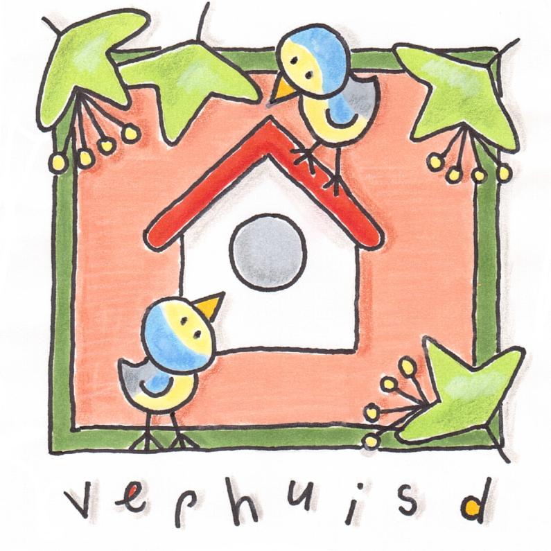 Felicitatiekaarten - Verhuisd vogels