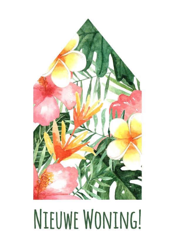 Felicitatiekaarten - Verhuiskaart Tropical - WW
