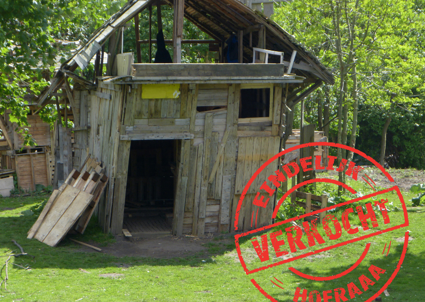 Felicitatiekaarten - Verhuizen eigen foto - verkocht stempel