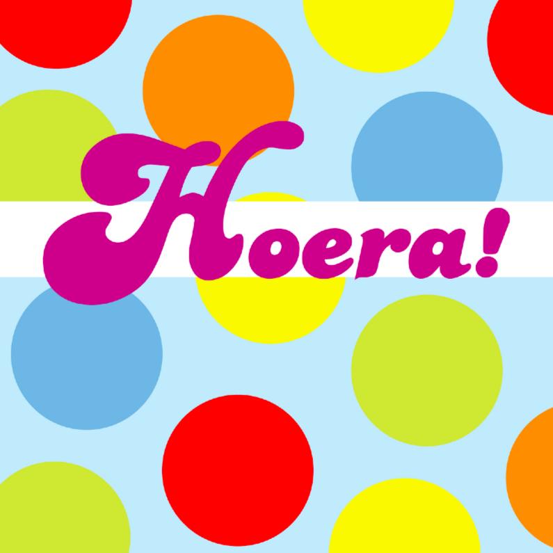 Felicitatiekaarten - Verjaardagskaart met kleurige dots