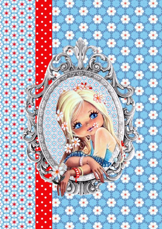 Felicitatiekaarten - Vintage Girl Blossom