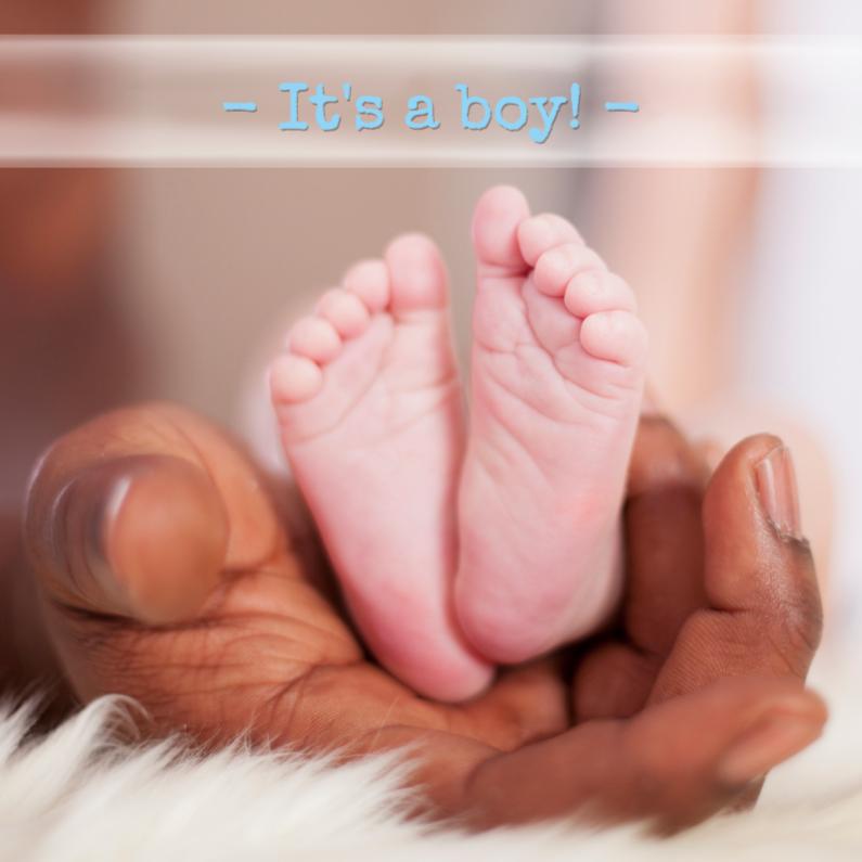 Felicitatiekaarten - voetjes in de hand van papa